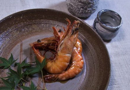 海老の芝煮(鍋物)